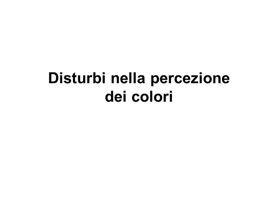 Disturbi nella percezione dei colori