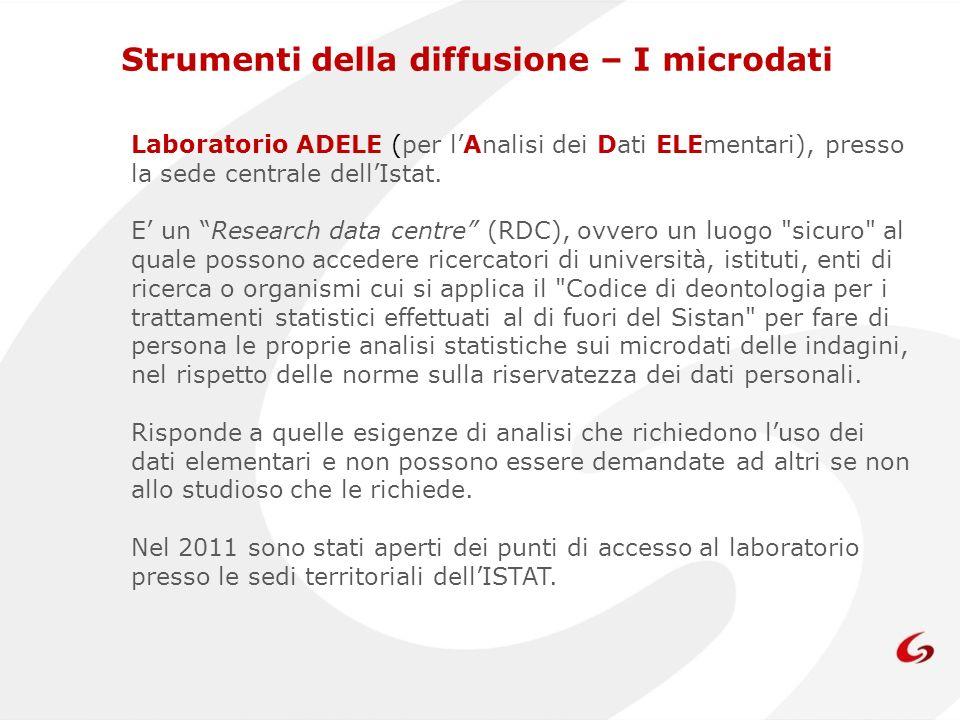 Laboratorio ADELE (per lAnalisi dei Dati ELEmentari), presso la sede centrale dellIstat.