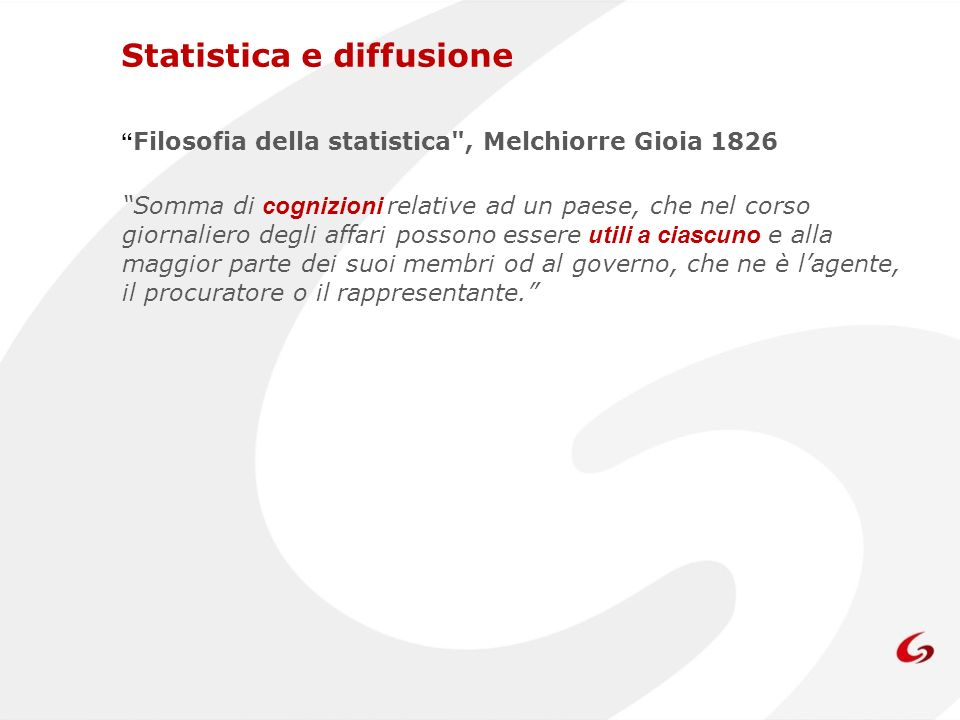I.Stat E il data warehouse delle statistiche prodotte dallIstat.