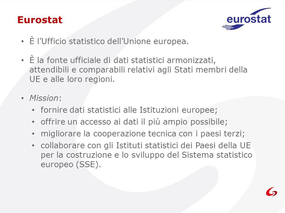 È lUfficio statistico dellUnione europea. È la fonte ufficiale di dati statistici armonizzati, attendibili e comparabili relativi agli Stati membri de