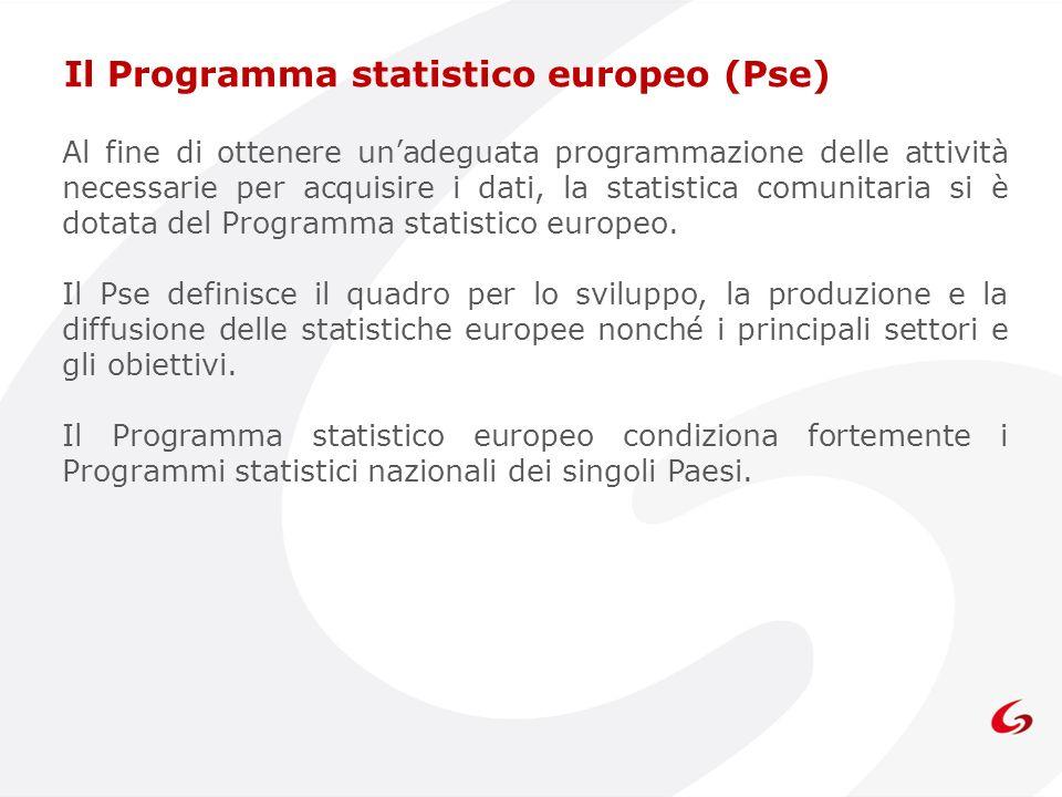 Al fine di ottenere unadeguata programmazione delle attività necessarie per acquisire i dati, la statistica comunitaria si è dotata del Programma stat