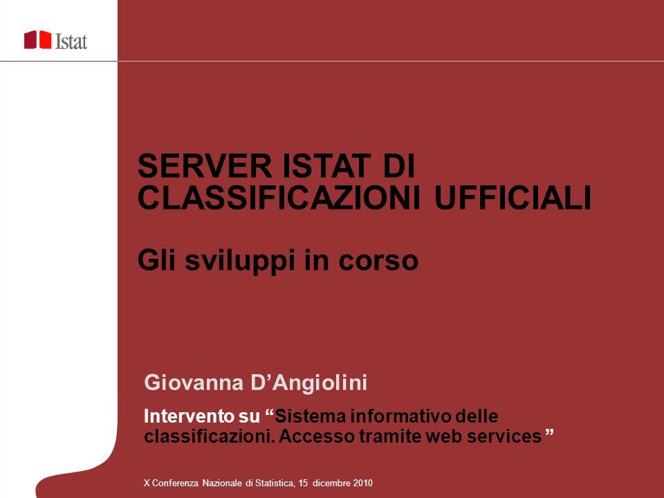 Giovanna DAngiolini Intervento su Sistema informativo delle classificazioni.