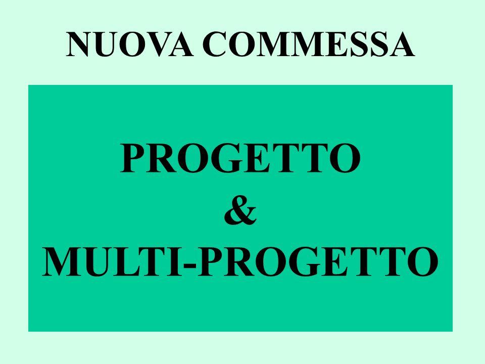 PROGETTO & MULTI-PROGETTO NUOVA COMMESSA