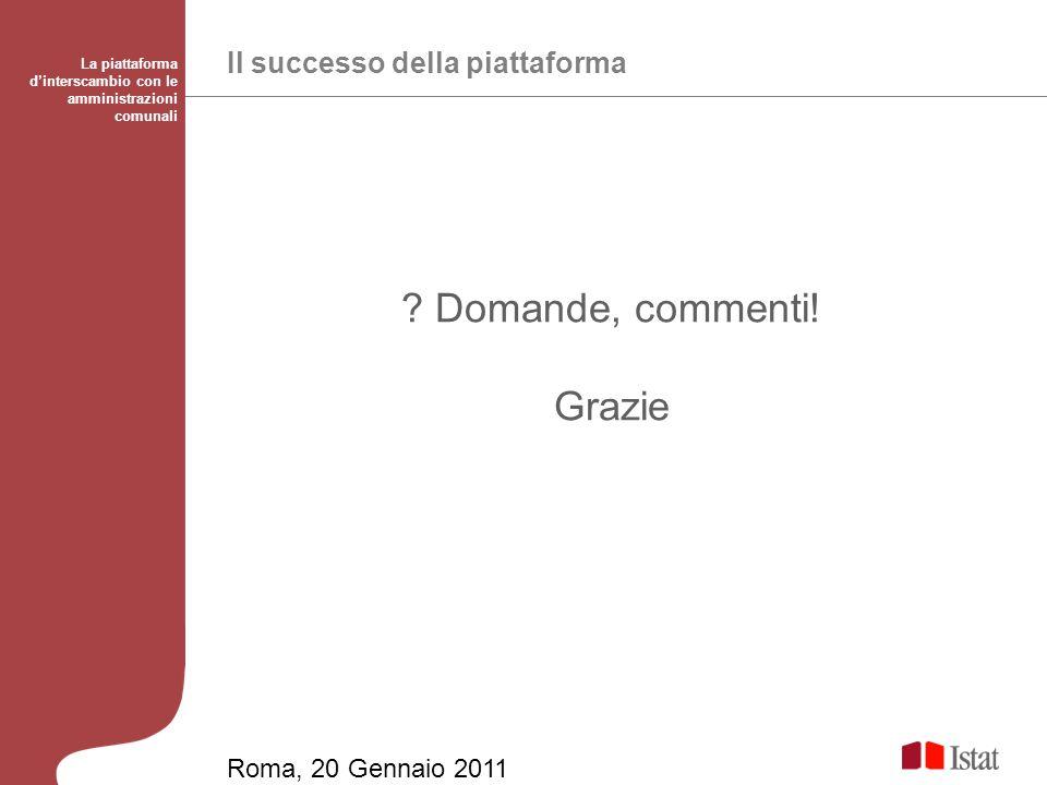 Il successo della piattaforma La piattaforma dinterscambio con le amministrazioni comunali .