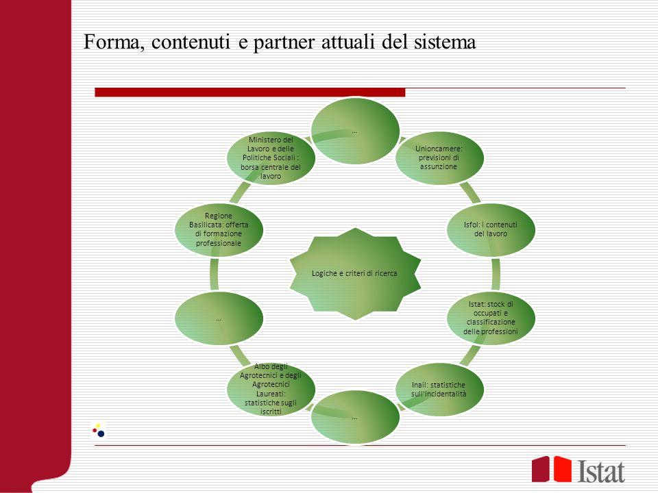 Forma, contenuti e partner attuali del sistema