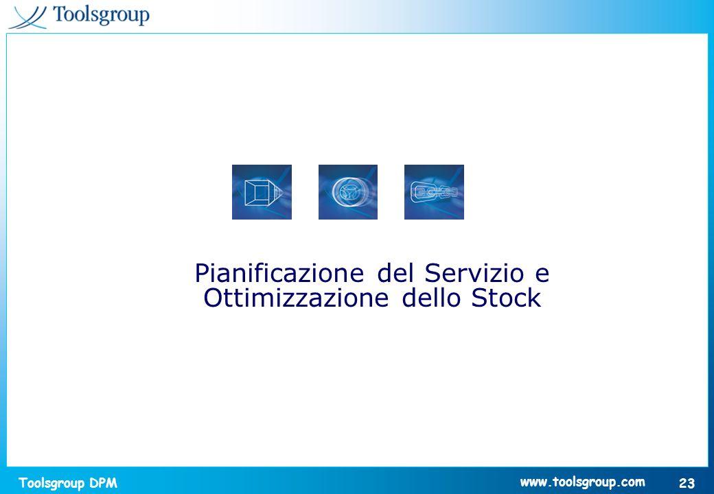 Toolsgroup DPM 23 www.toolsgroup.com Pianificazione del Servizio e Ottimizzazione dello Stock