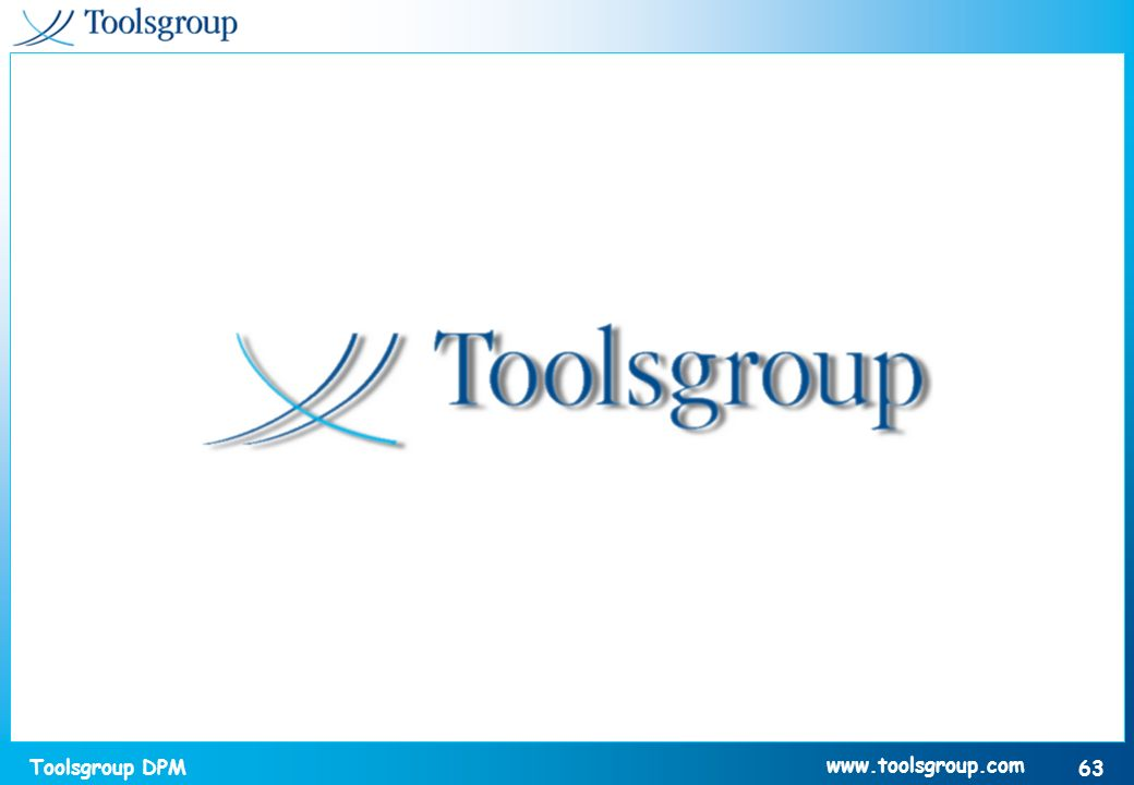 Toolsgroup DPM 63 www.toolsgroup.com
