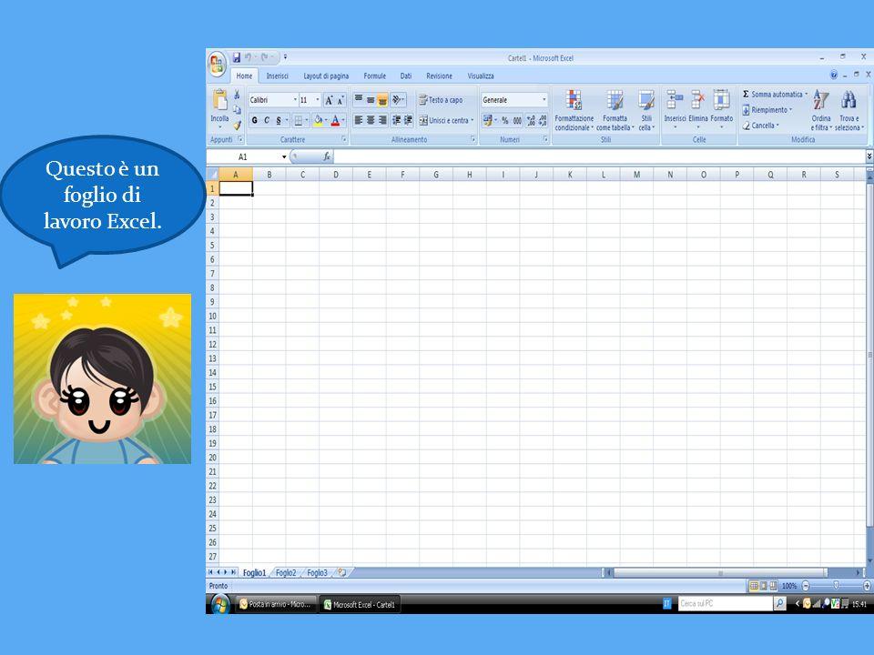 Questo è un foglio di lavoro Excel.