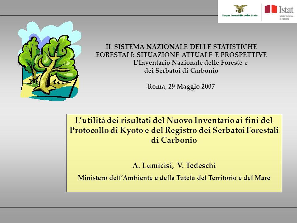 Lutilità dei risultati del Nuovo Inventario ai fini del Protocollo di Kyoto e del Registro dei Serbatoi Forestali di Carbonio A.