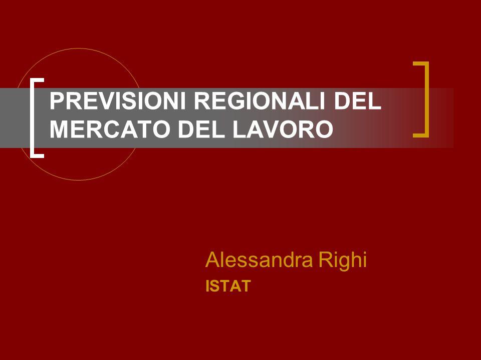 PREVISIONI REGIONALI DEL MERCATO DEL LAVORO Alessandra Righi ISTAT