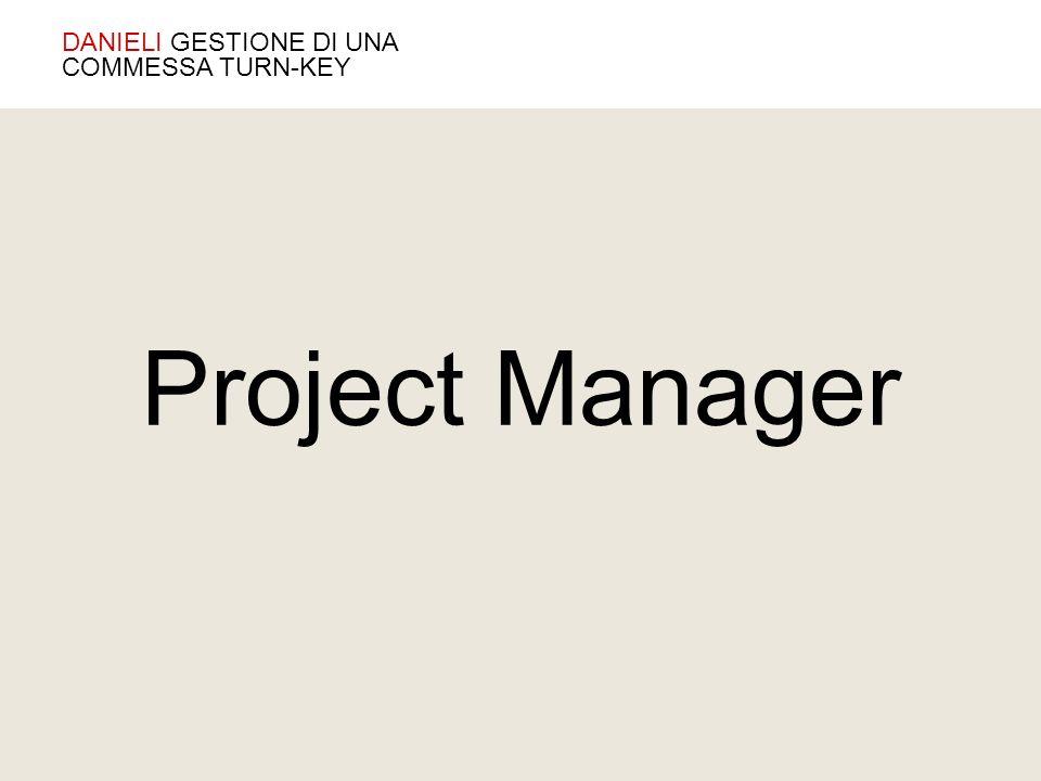 Project Manager DANIELI GESTIONE DI UNA COMMESSA TURN-KEY