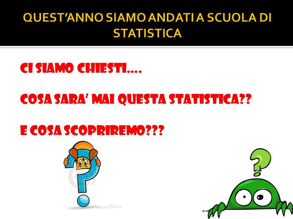 CI SIAMO CHIESTI…. COSA SARA MAI QUESTA STATISTICA?? E COSA SCOPRIREMO???