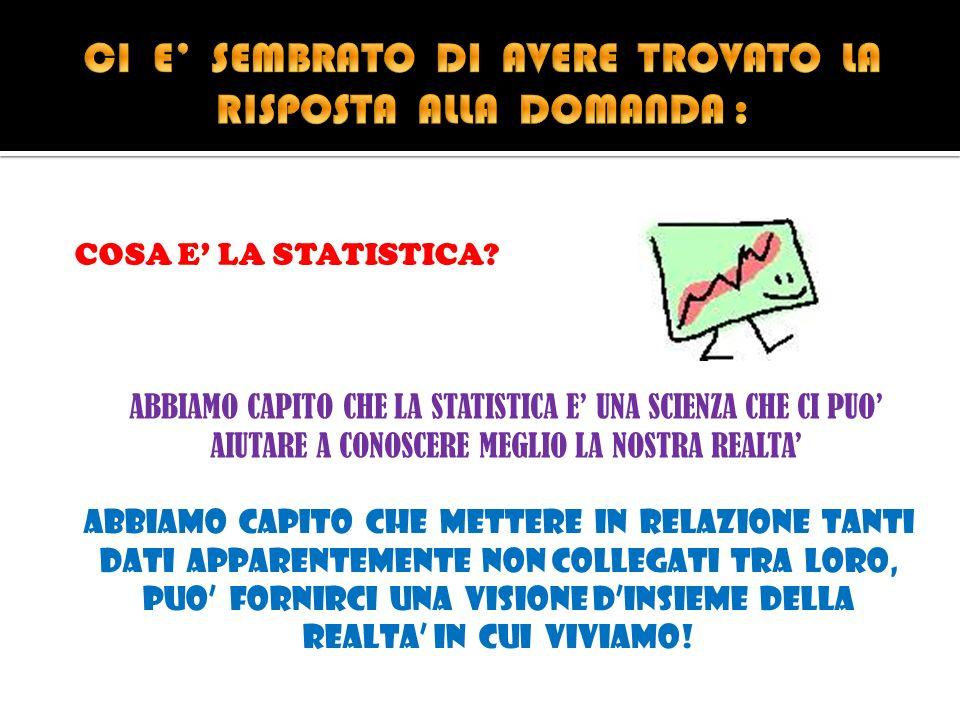 COSA E LA STATISTICA.