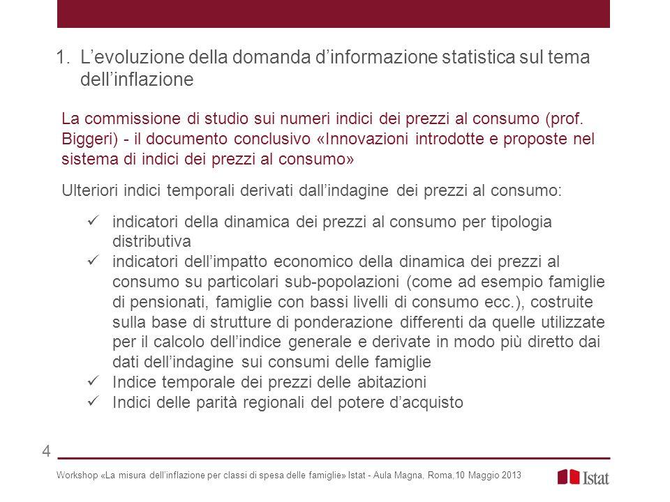 La commissione di studio sui numeri indici dei prezzi al consumo (prof.