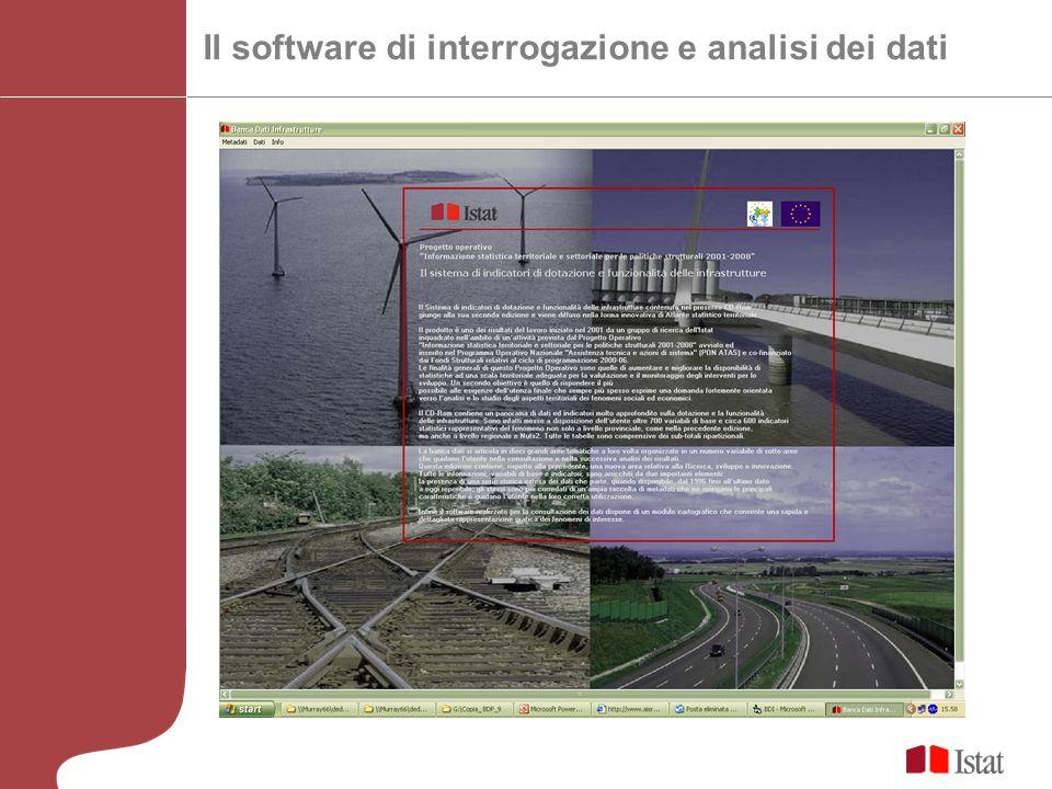 Il software di interrogazione e analisi dei dati