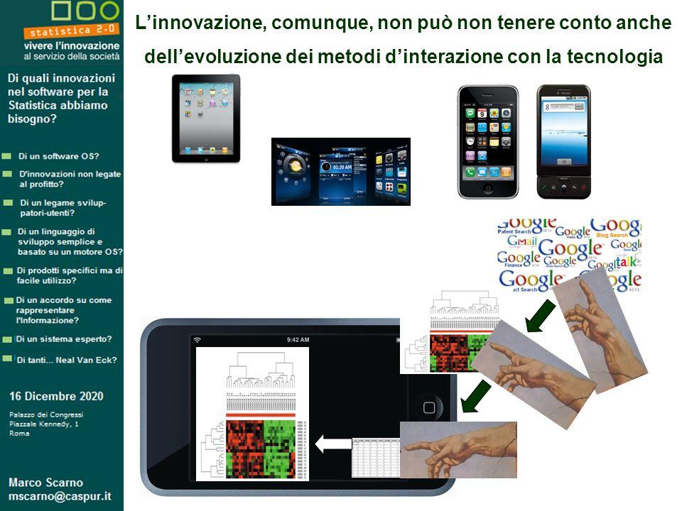 Linnovazione, comunque, non può non tenere conto anche dellevoluzione dei metodi dinterazione con la tecnologia
