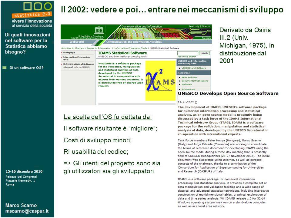 Il 2002: vedere e poi… entrare nei meccanismi di sviluppo Derivato da Osiris III.2 (Univ.