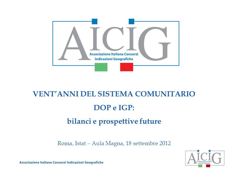 VENTANNI DEL SISTEMA COMUNITARIO DOP e IGP: bilanci e prospettive future Roma, Istat – Aula Magna, 18 settembre 2012