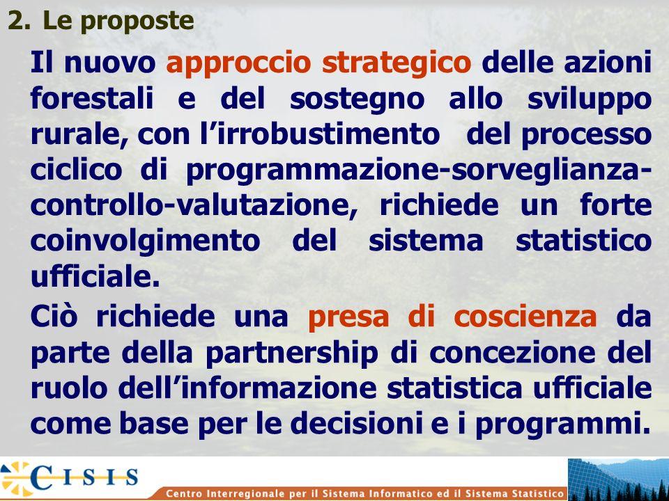 2.Le proposte Il nuovo approccio strategico delle azioni forestali e del sostegno allo sviluppo rurale, con lirrobustimento del processo ciclico di pr