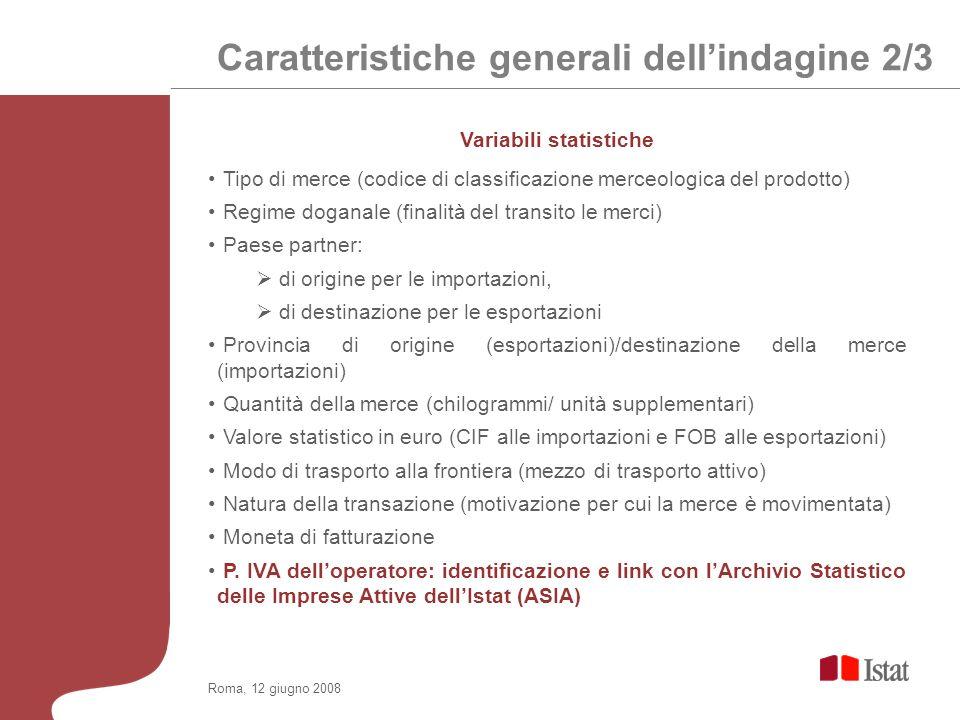Roma, 12 giugno 2008 Basi normative Codice Doganale Regolamento Extrastat Comunitario n.