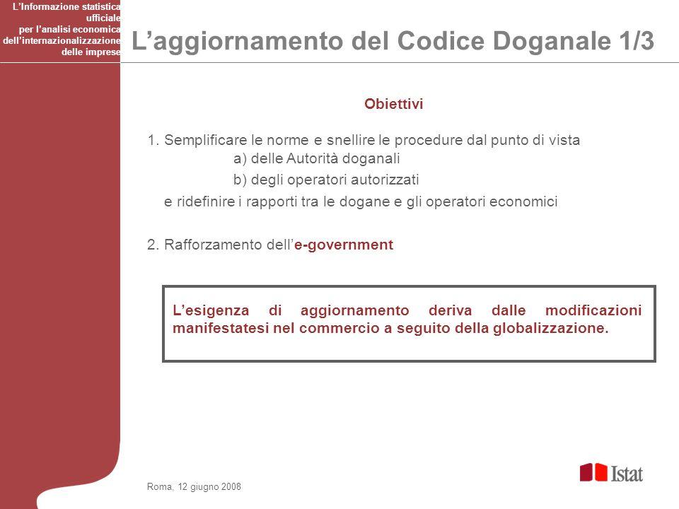 Roma, 12 giugno 2008 Obiettivi 1.