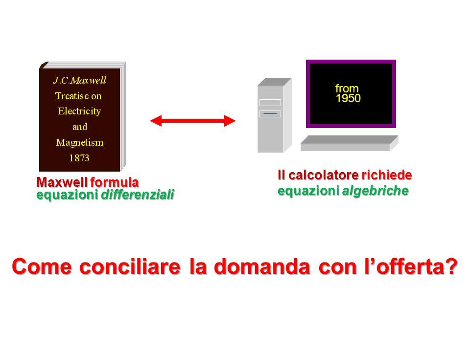 ... Maxwell formula equazioni differenziali Come conciliare la domanda con lofferta? from 1950 Il calcolatore richiede equazioni algebriche