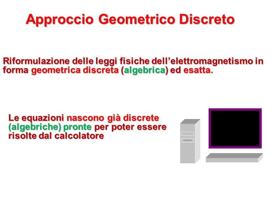 Riformulazione delle leggi fisiche dellelettromagnetismo in forma geometrica discreta (algebrica) ed esatta. Approccio Geometrico Discreto Le equazion