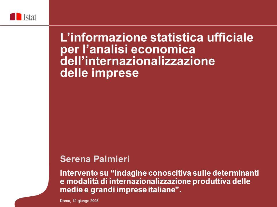 Serena Palmieri Intervento su Indagine conoscitiva sulle determinanti e modalità di internazionalizzazione produttiva delle medie e grandi imprese ita