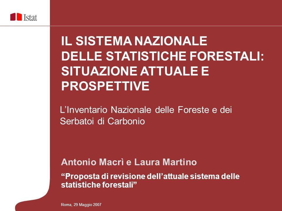 Antonio Macrì e Laura Martino Proposta di revisione dellattuale sistema delle statistiche forestali LInventario Nazionale delle Foreste e dei Serbatoi