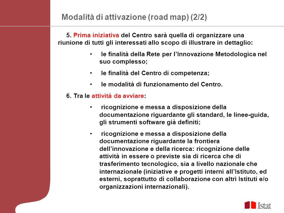 Modalità di attivazione (road map) (2/2) 5.