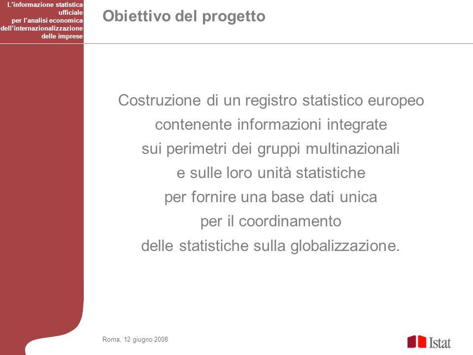 Costruzione di un registro statistico europeo contenente informazioni integrate sui perimetri dei gruppi multinazionali e sulle loro unità statistiche per fornire una base dati unica per il coordinamento delle statistiche sulla globalizzazione.