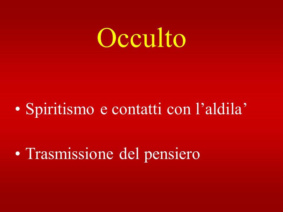 Occulto Spiritismo e contatti con laldila Trasmissione del pensiero