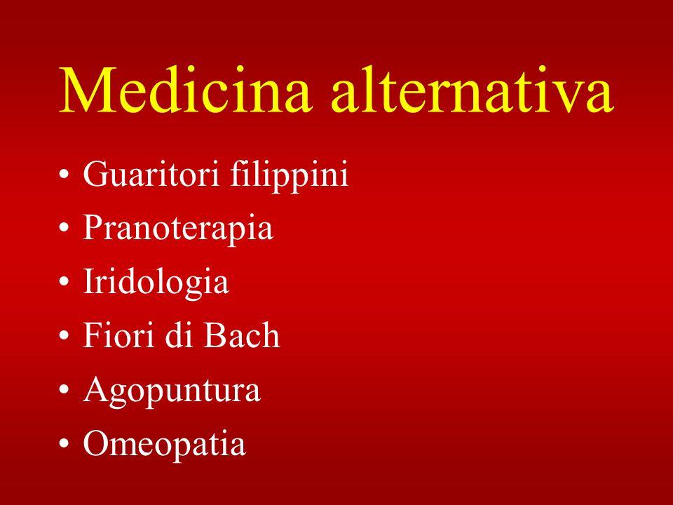 Medicina alternativa Guaritori filippini Pranoterapia Iridologia Fiori di Bach Agopuntura Omeopatia