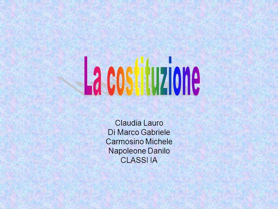 Claudia Lauro Di Marco Gabriele Carmosino Michele Napoleone Danilo CLASSI IA