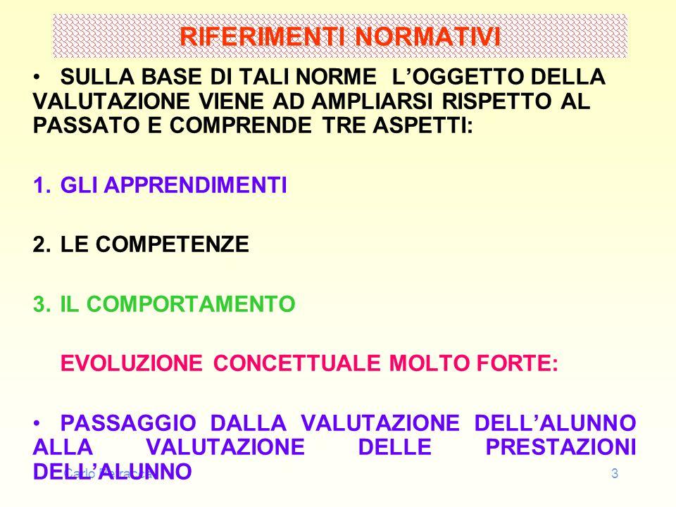 Carlo Petracca3 RIFERIMENTI NORMATIVI SULLA BASE DI TALI NORME LOGGETTO DELLA VALUTAZIONE VIENE AD AMPLIARSI RISPETTO AL PASSATO E COMPRENDE TRE ASPET