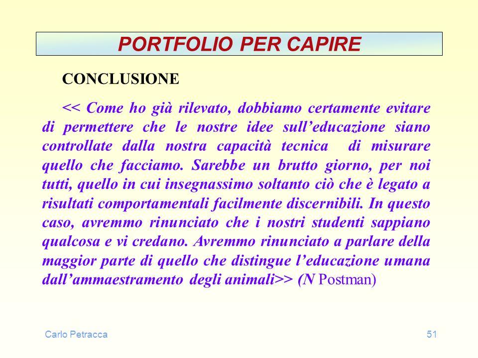Carlo Petracca51 PORTFOLIO PER CAPIRE CONCLUSIONE > (N Postman)