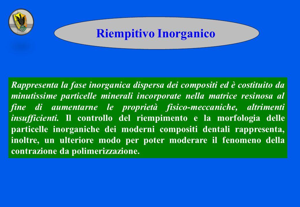 Riempitivo Inorganico Rappresenta la fase inorganica dispersa dei compositi ed è costituito da minutissime particelle minerali incorporate nella matri