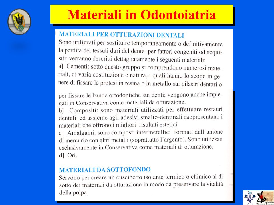 Materiali in Odontoiatria