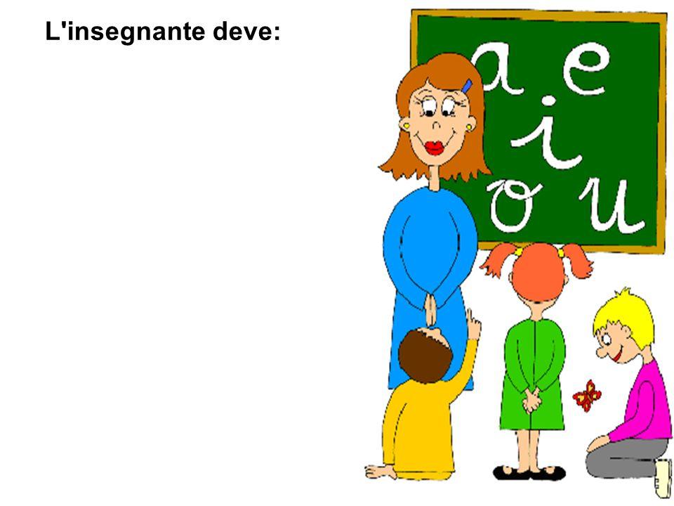 L'insegnante deve: riconoscere e accogliere realmente la