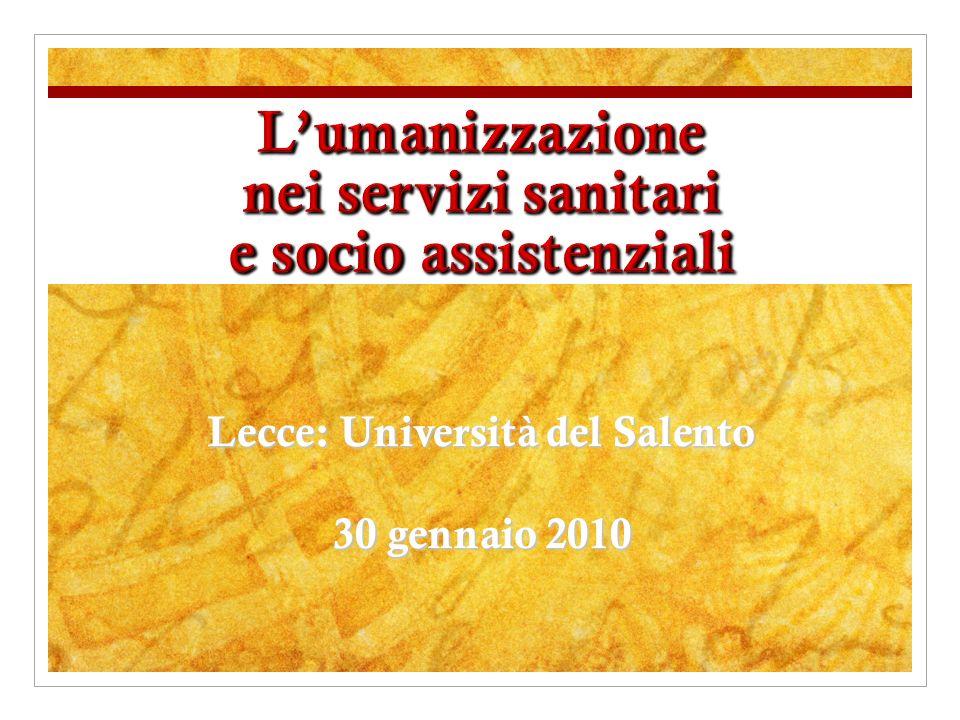 Lecce: Università del Salento 30 gennaio 2010