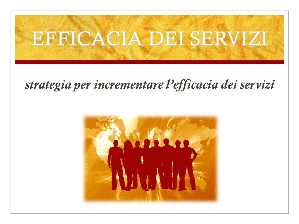 EFFICACIA DEI SERVIZI strategia per incrementare lefficacia dei servizi