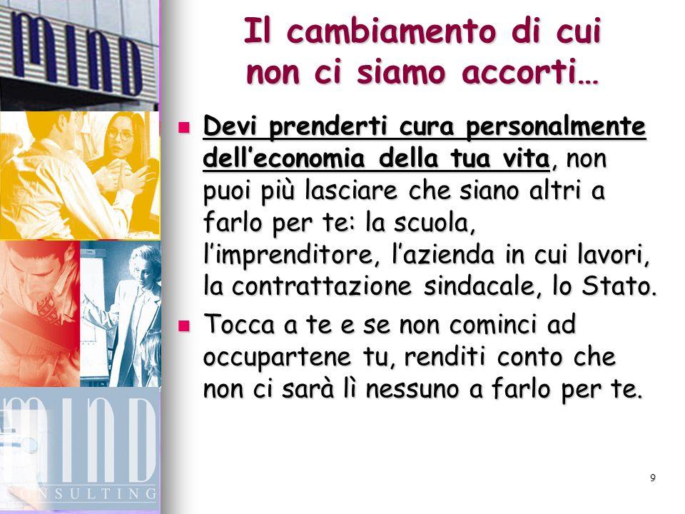 10 CONCLUSIONI A) Devi cominciare il prima possibile a costruirti unintegrazione alla pensione.