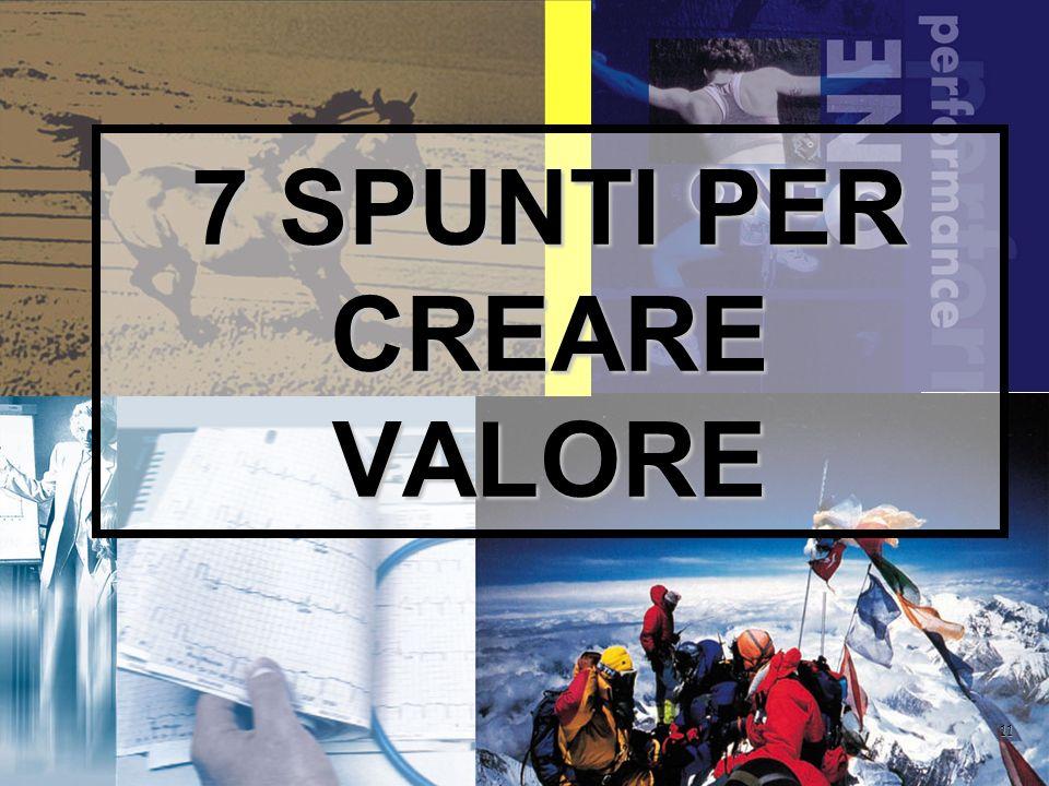 11 7 SPUNTI PER CREARE VALORE