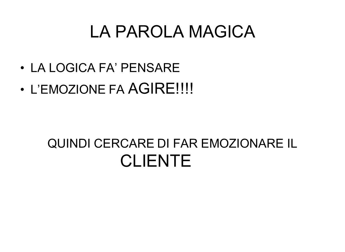 LA PAROLA MAGICA LA LOGICA FA PENSARE LEMOZIONE FA AGIRE!!!.