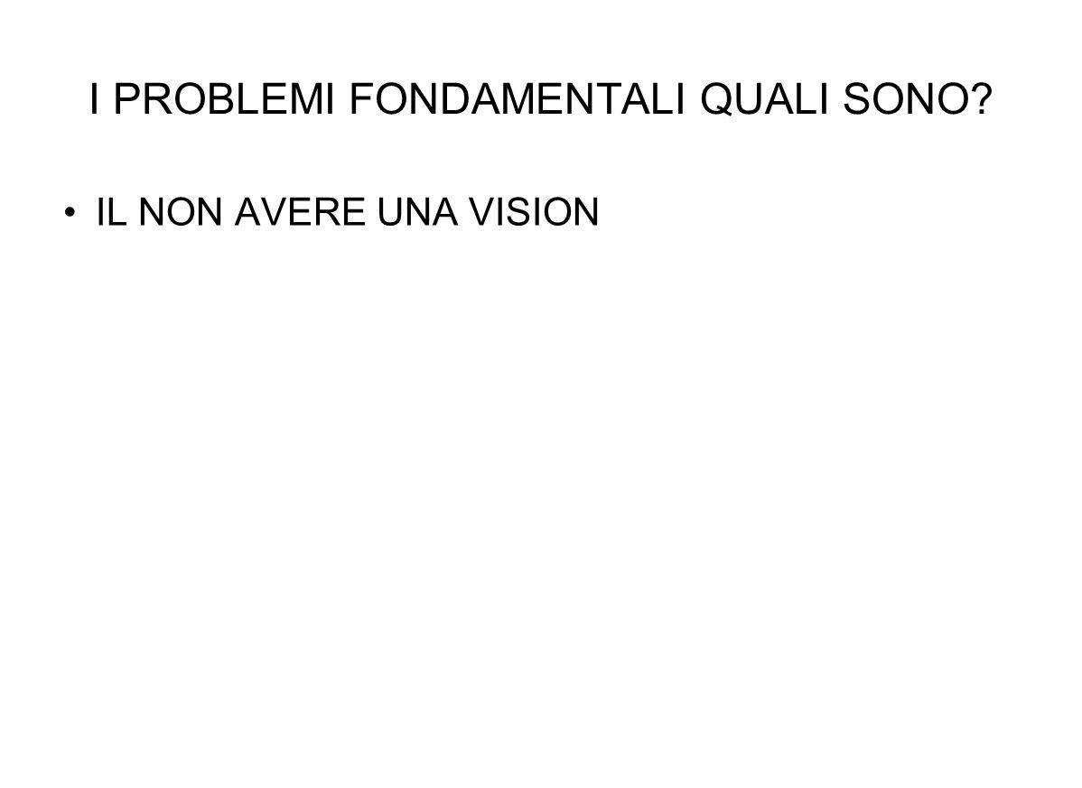 IL NON AVERE UNA VISION