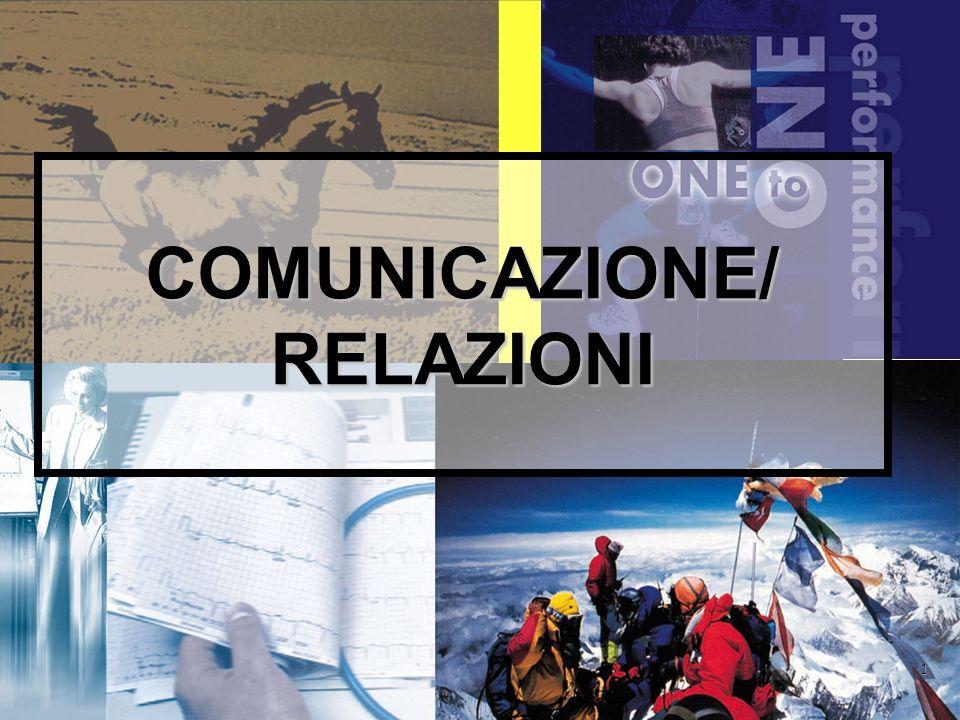 1 COMUNICAZIONE/ RELAZIONI