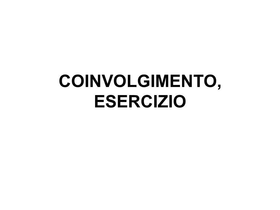 COINVOLGIMENTO, ESERCIZIO