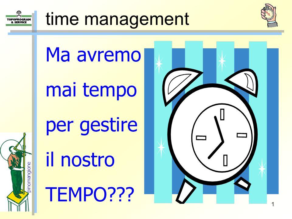 1 time management Ma avremo mai tempo per gestire il nostro TEMPO??? pinomangione