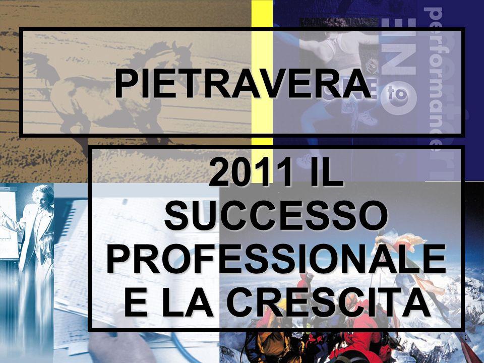 1 PIETRAVERA 2011 IL SUCCESSO PROFESSIONALE E LA CRESCITA