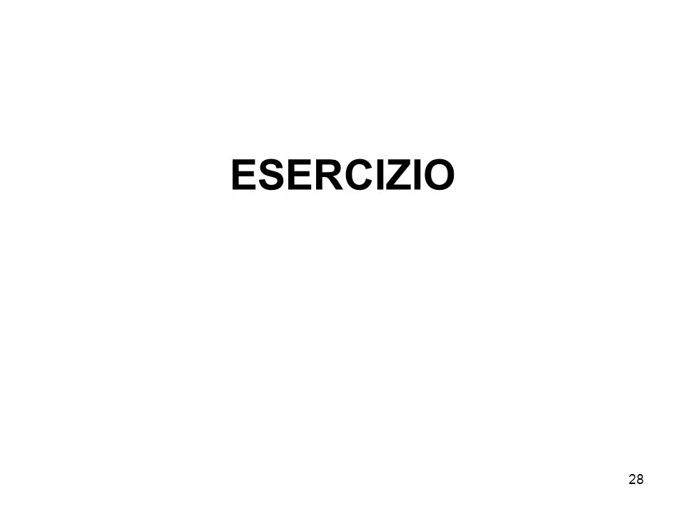 28 ESERCIZIO